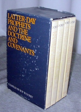 The Latter-day Prophets and the Doctrine and Covenants - Complete set - I,II,III,IV Volumes 1-4 Complete in Slipcase, Doxey, Roy W.