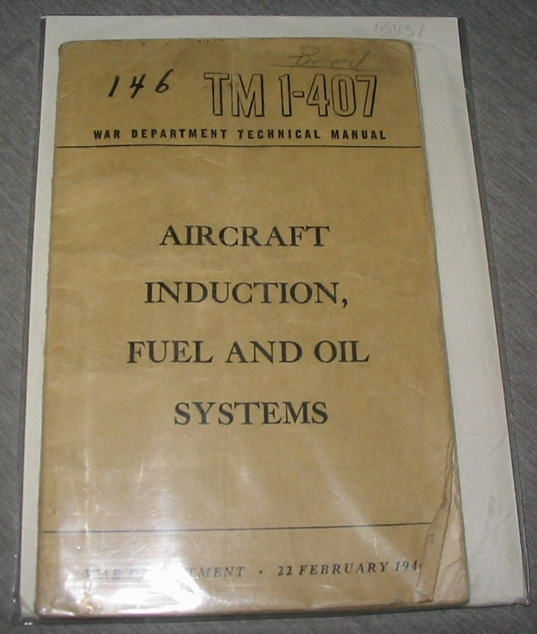 Aircraft Induction, Fuel and Oil Systems - Tm 1-407