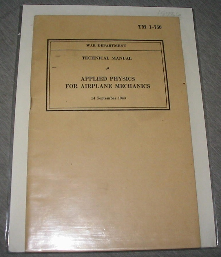 Image for Technical Manual Applied Physics for Airplane Mechanics - Tm 1-750