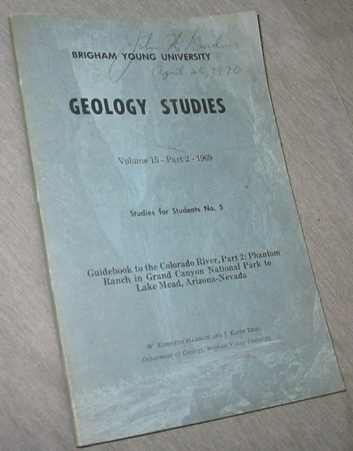 Geology Studies - Volume 15- Part 2- Studies for Students No. 5, Hamblin, W. Kenneth & Rigby, J. Keith