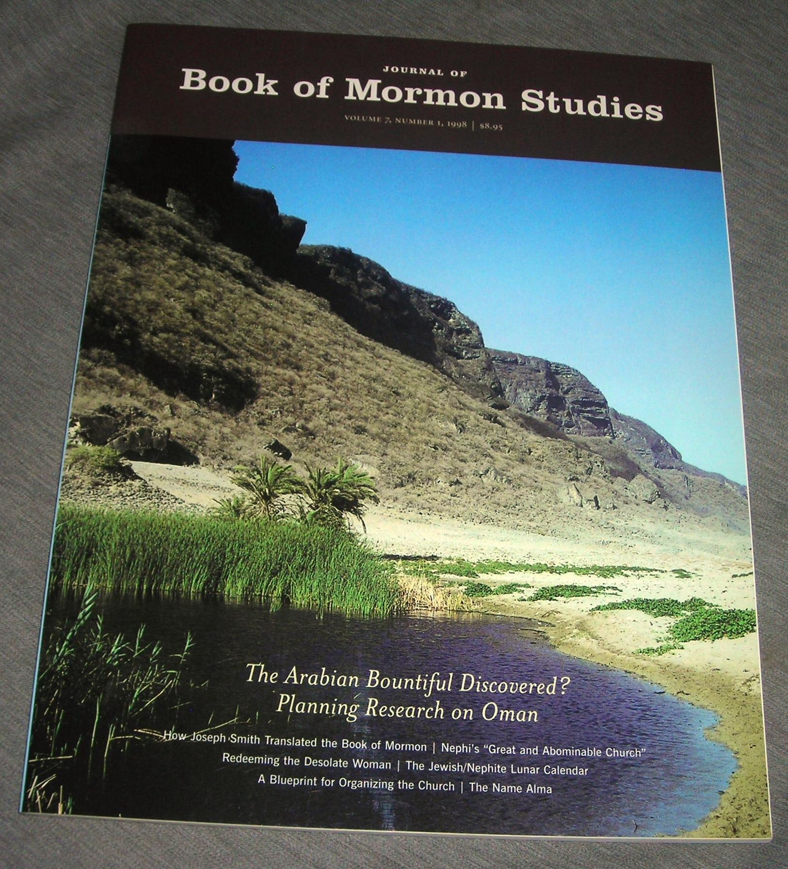 JOURNAL OF BOOK OF MORMON STUDIES Vol. 7 / Number 1 / 1998, Sorenson, John L. (editor)
