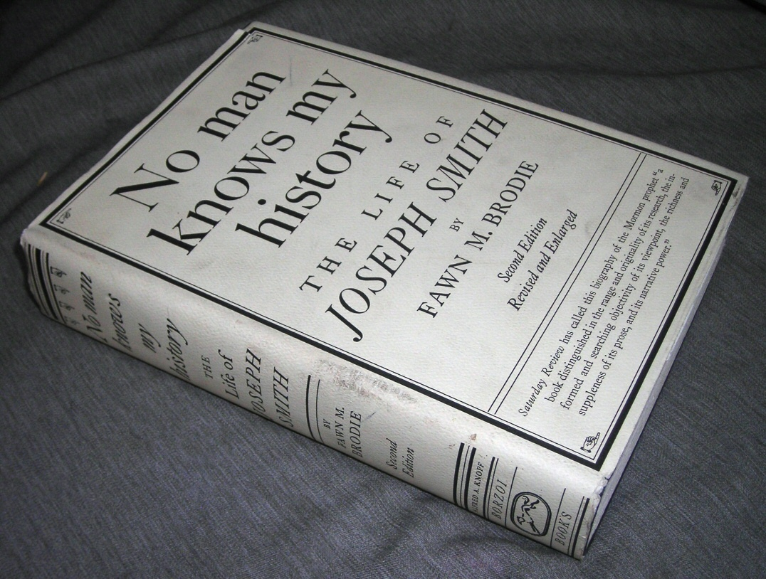 Image for NO MAN KNOWS MY HISTORY -  The Life of Joseph Smith, The Mormon Prophet