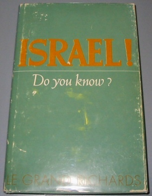ISRAEL! DO YOU KNOW?