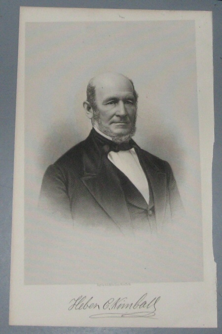 Steel Engraving - HEBER C. KIMBALL - 1890 - Original MORMON / Utah Pioneer Steel Engraving
