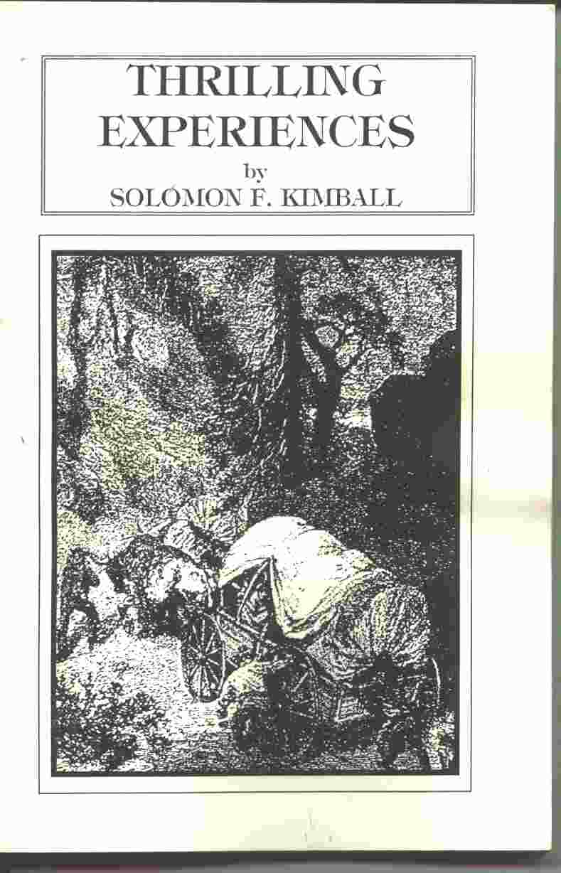 THRILLING EXPERIENCES, Kimball, Solomon F.