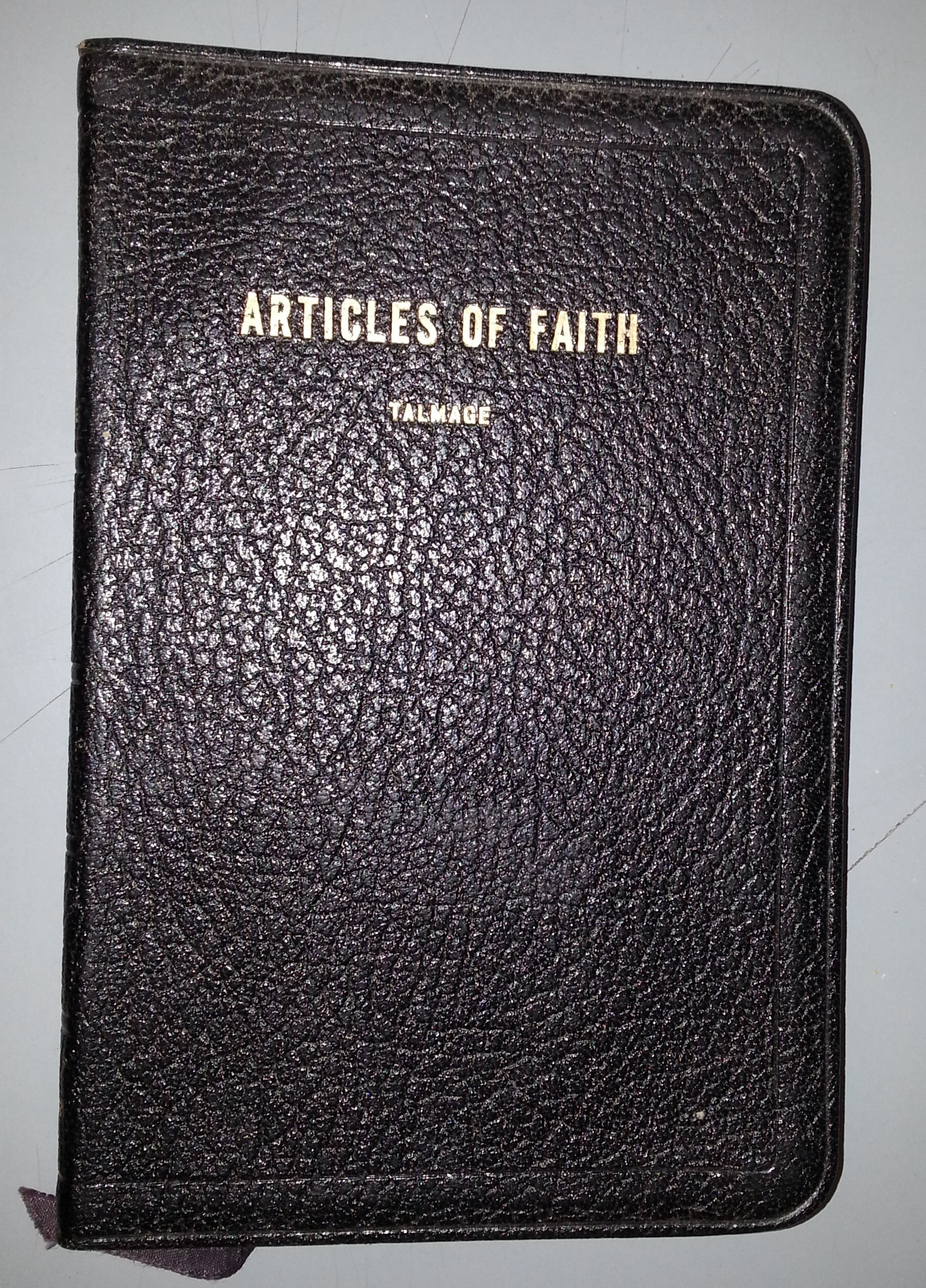 THE ARTICLES OF FAITH - LEATHER -, Talmage, Dr. James E.