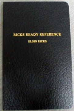 Ricks Redy Reference - COMBINATION POCKET REFERENCE, Ricks, Eldin