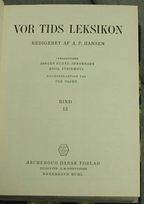 VOR TIDS LEKSIKON, Hansen, A. P.