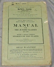 YOUNG MEN'S MUTUAL IMPROVEMENT ASSOCIATIONS MANUAL FOR THE JUNIOR CLASSES 1927-28 :  Stories of the Plains