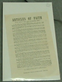 ARTICLES of FAITH - Of the Church of Jesus Christ of Latter-Day Saints, The Church Of Jesus Christ Of Latter-Day Saints