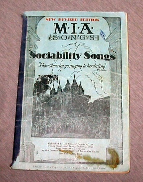 M.I.A. SONGS AND SOCIABILITY SONGS, Saints, Mutual Improvement Associations of the Church of Jesus Christ of Latter-day