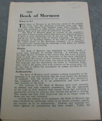 The Book of Mormon - What is It?