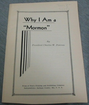 "Why I Am a ""Mormon"", Penrose, Charles W."