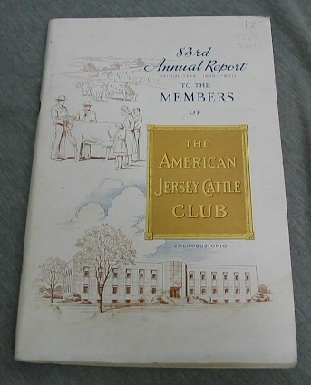 83rd Annual Report (Fiscal Year 1950-1951) the The Members of the American Jersey Cattle Club