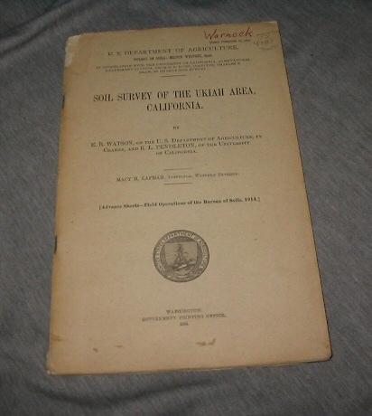 Soil Survey of the Ukiah Area, California, Watson, E. B. & Pendleton, R. L.