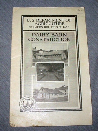 Image for Dairy-Barn Construction - U. S. Department of Agriculture Farmers Bulletin No. 1342
