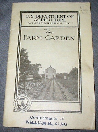 Image for The Farm Garden - U. S. Department of Agriculture Farmers Bulletin No. 1673
