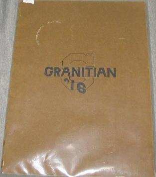 Image for Granitian 1916 - Year Book of the Senior Class of the Granite High School [Salt Lake City, Utah]