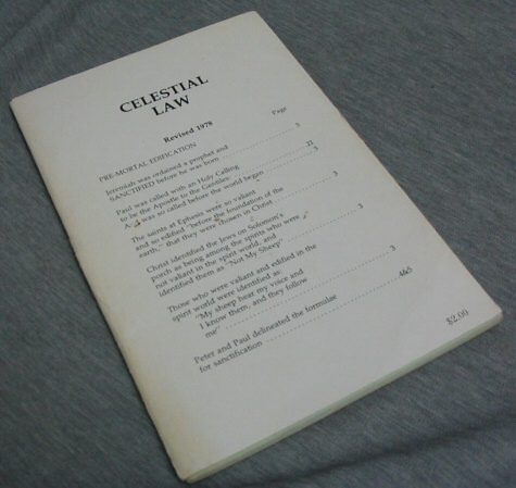 Celestial Law - Revised 1978, Schoenhals, E. L.