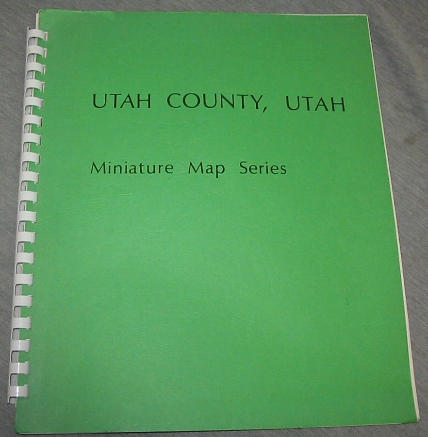 UTAH County, Utah - Miniature Map Series