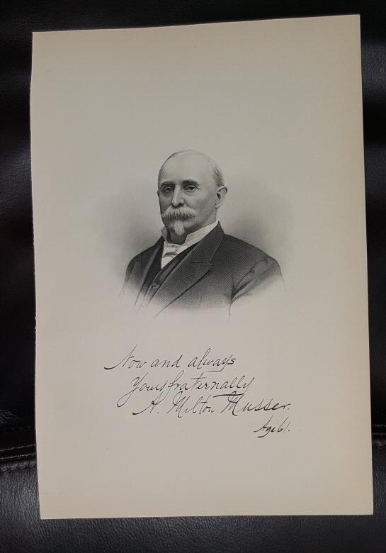 Steel Engraving - A. Milton Musser -  Original MORMON / Utah Pioneer Steel Engraving
