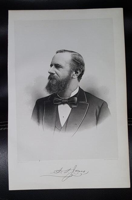 Steel Engraving - S. S. Jones -  Original MORMON / Utah Pioneer Steel Engraving