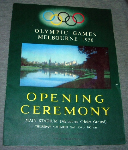 The Games of the XVI Olympiad -  Melbourne 1956
