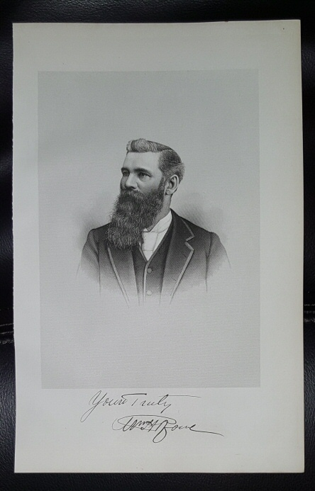 Steel Engraving - William H. Rowe -  Original MORMON / Utah Pioneer Steel Engraving