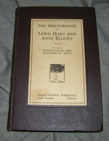 Descendants of Lewis Hart and Anne Elliot, Torrence, Jared Sidney, Compiled By & photos & illustrations