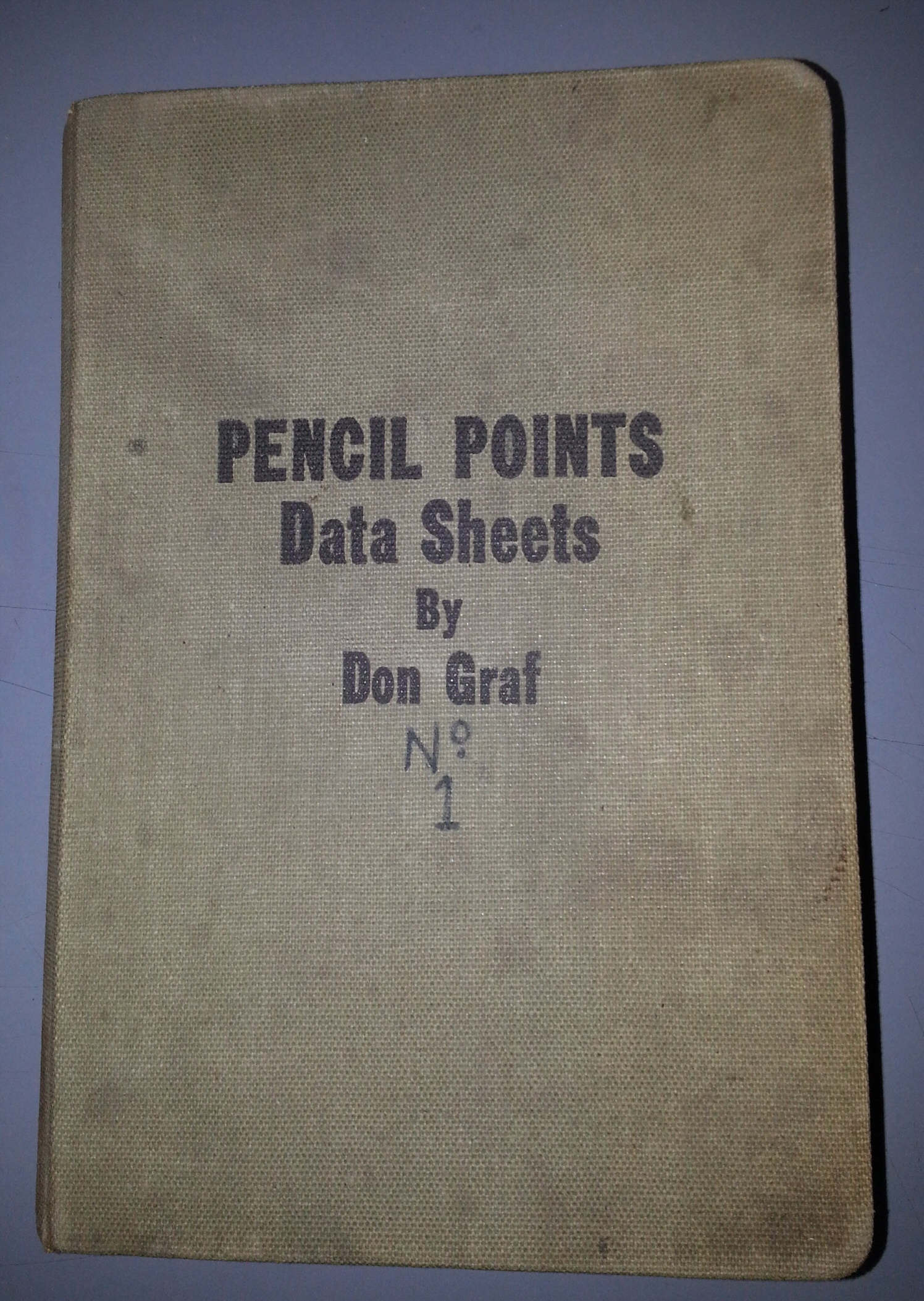 Pencil Points Data Sheets, Graf, Don & Illustrated with Many Graphs and Charts