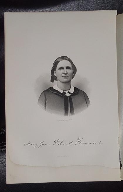 Steel Engraving - Mary Jane Dilworth Hammond -  Original MORMON / Utah Pioneer Steel Engraving
