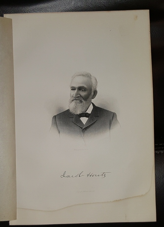 Steel Engraving - Jacob Houtz -  Original MORMON / Utah Pioneer Steel Engraving