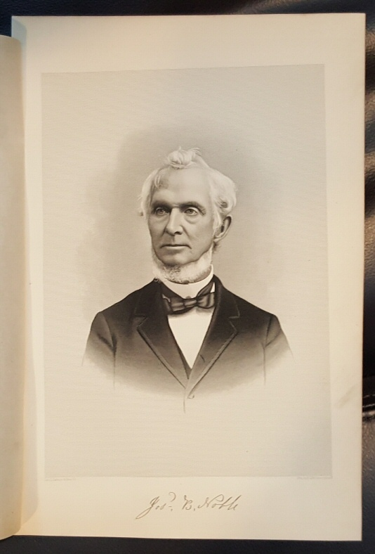 Steel Engraving - Joseph B. Hoble -  Original MORMON / Utah Pioneer Steel Engraving