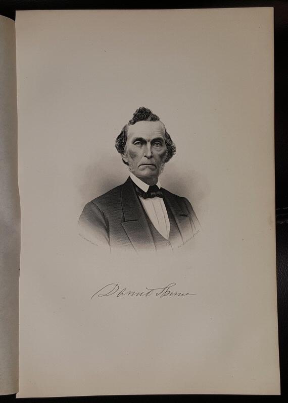 Steel Engraving - Daniel Thorne -  Original MORMON / Utah Pioneer Steel Engraving