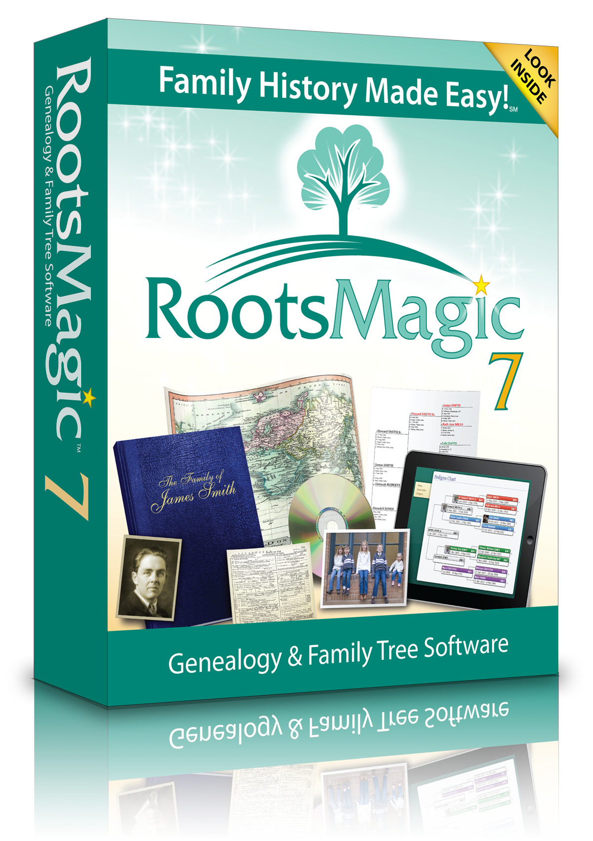 Rootsmagic Genealogy Software- Version 7.0 Roots Magic - Windows Cd-Rom, Rootsmagic