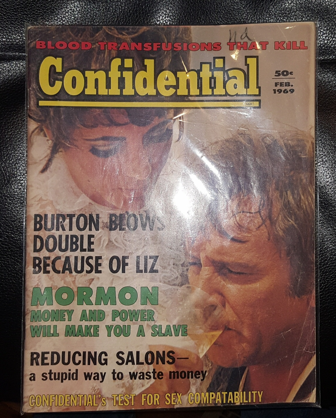 Confidential Magazine February 1969 (Liz Taylor, Richard Burton)