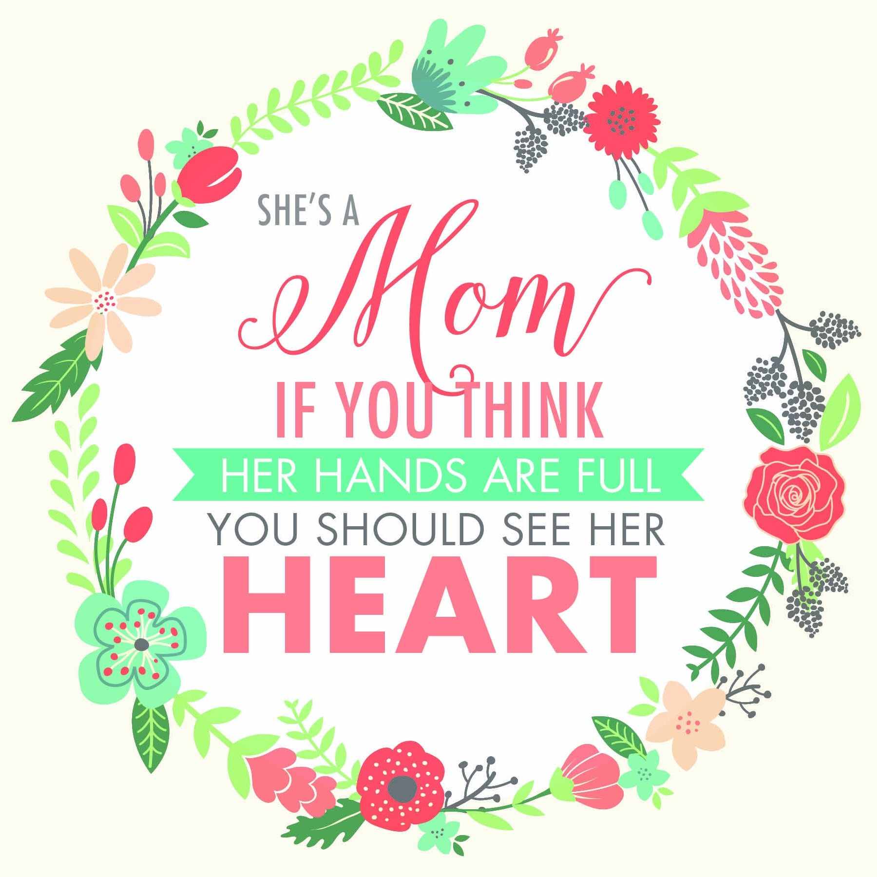 She's a Mom: If You Think Her Hands Are Full, You Should See Her Heart, Communications, Covenant