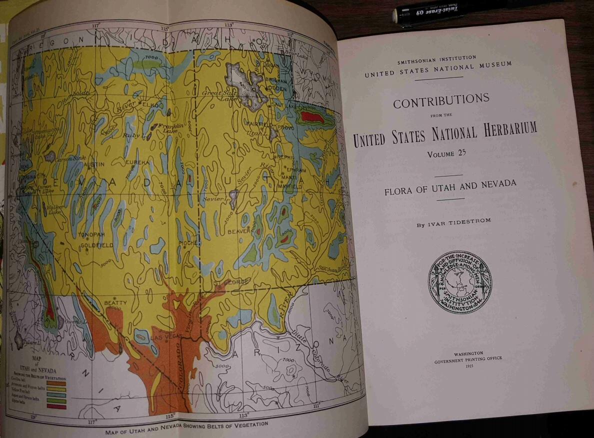 Contributions from the United States National Herbarium -- Vol 25 -- Flora of Utah & Nevada, Tidestrom, Ivar