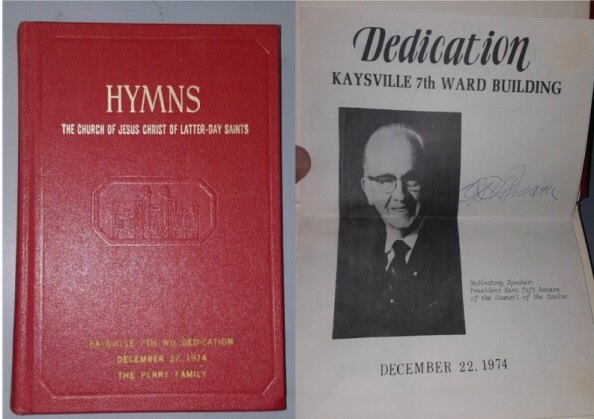HYMNS (1974 Kaysville, UT)  Signed (Ezra Taft Bensen), Church Of Jesus Christ Of Latter-Day Saints