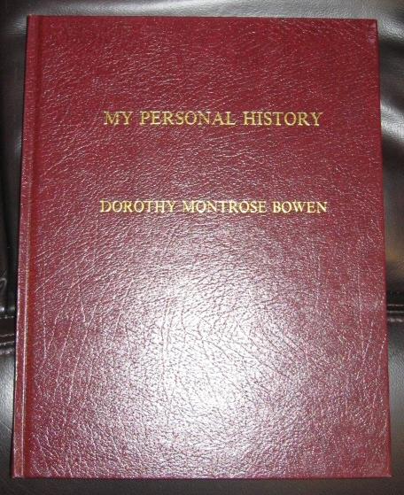 My Personal History - Dorothy Montrose Bowen, Bowen, Dorothy Montrose