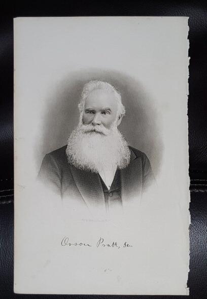 Steel Engraving - Orson Pratt -  Original MORMON / Utah Pioneer Steel Engraving