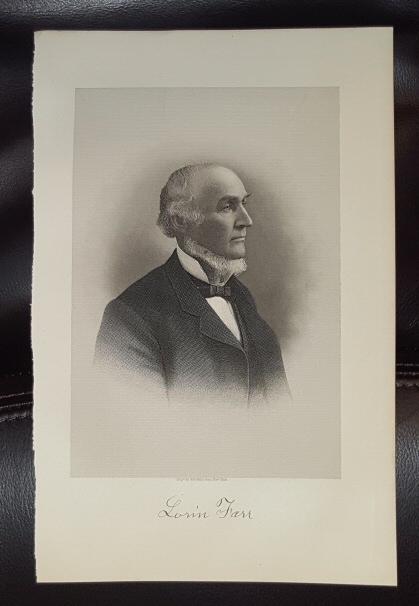 Steel Engraving - Lorin Farr -  Original MORMON / Utah Pioneer Steel Engraving