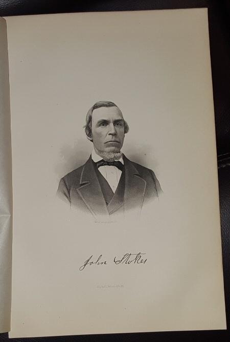 Steel Engraving - John Stoker -  Original MORMON / Utah Pioneer Steel Engraving