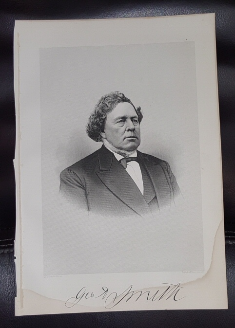 Steel Engraving - JOSEPH SMITH JR. - 1890 -  Original MORMON / Utah Pioneer Steel Engraving