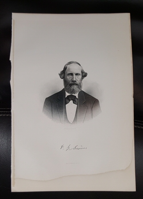 Steel Engraving - Perrigrine Sessions -  Original MORMON / Utah Pioneer Steel Engraving