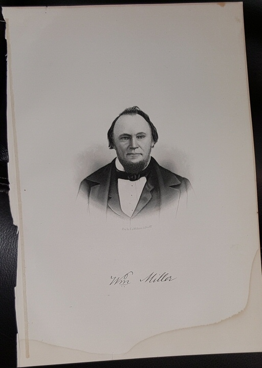 Steel Engraving - Williams Miller -  Original MORMON / Utah Pioneer Steel Engraving