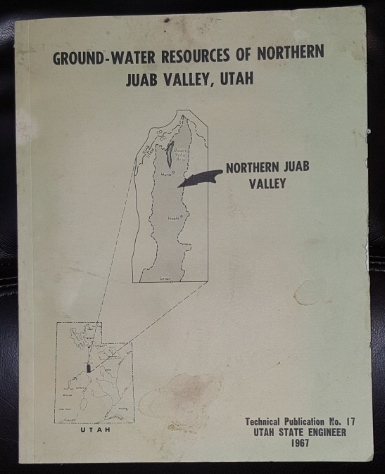 Ground-Water Resources of Northern Juab Valley, Utah, 1967, Technical Publication, Number 17   ., Bjorklund, L. J.