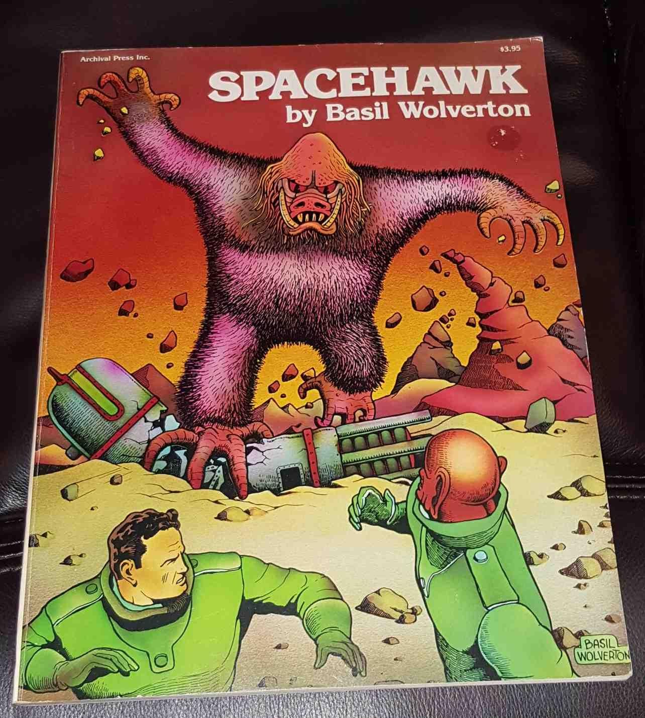 SPACEHAWK, GN, TPB, Basil Wolverton, Achival, 1978, VF, Basil Wolverton