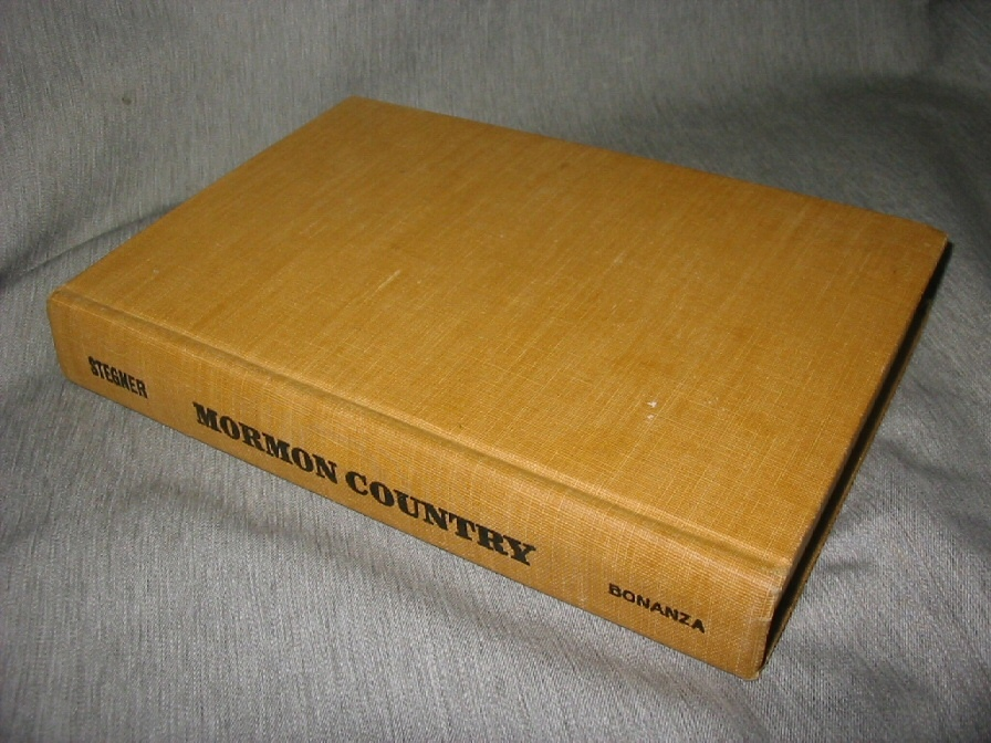 MORMON COUNTRY, Stegner, Wallace Earle