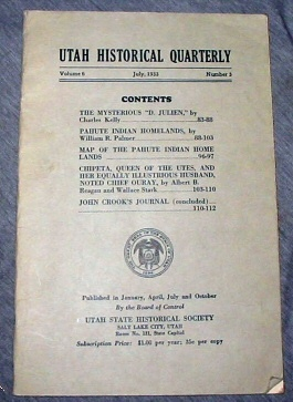 Utah Historical Quarterly -  Summer 1969 - VOLUME 6 - NUMBER 3, Editorial Staff, Utah State Historical Quarterly